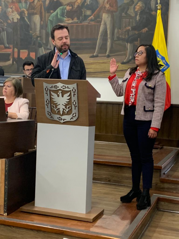Posesión Rosalba Jazmín Cabrales Personera (e) de Bogotá